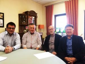 v.l.n.r.: Dr. Volker Christmann, Hermann Kiefer, Manfred Paschwitz, Manfred Maurer. Martina Stabel-Franz fotografiert)