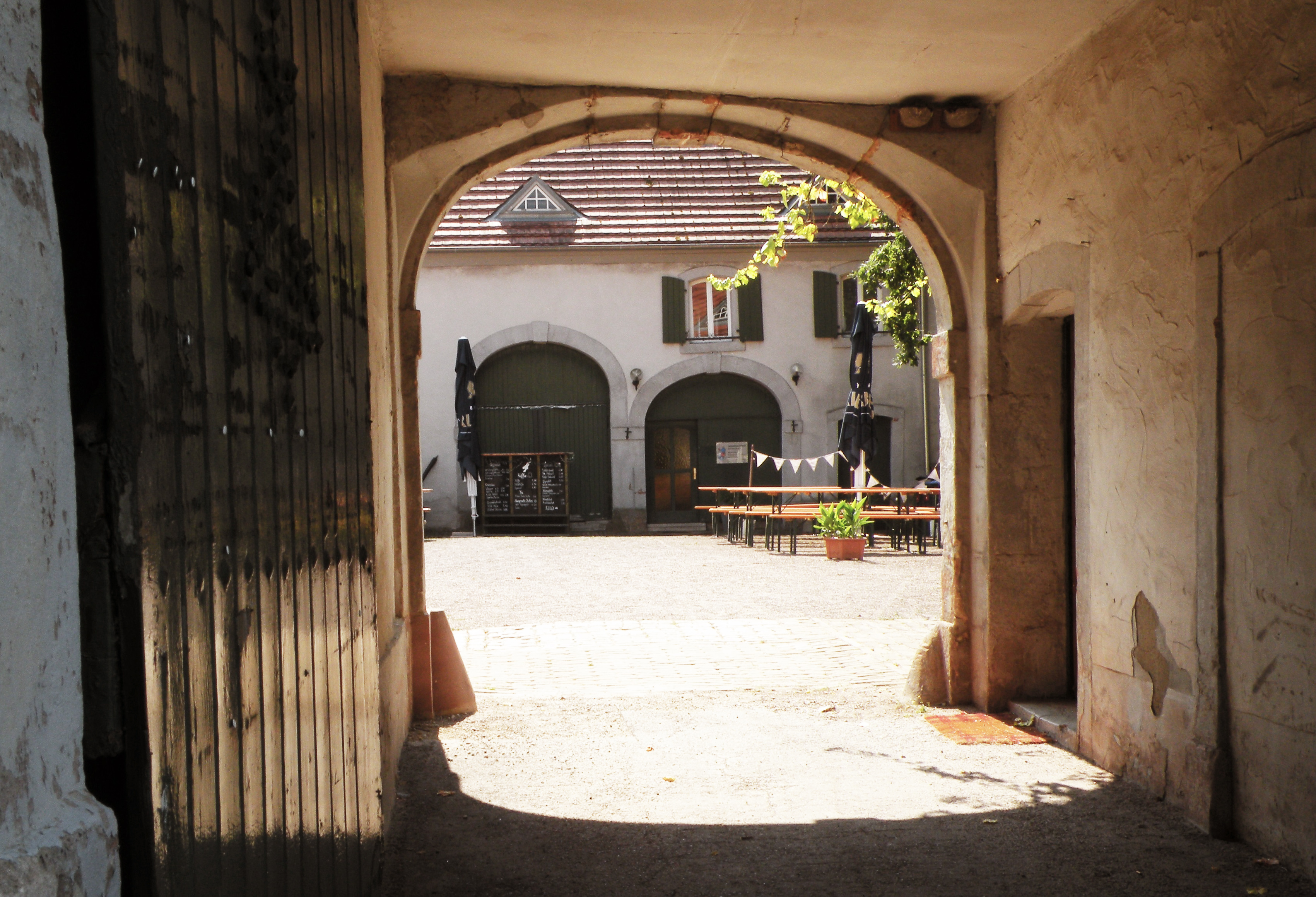 Toreinfahrt Jagdschloss Karlsbrunn