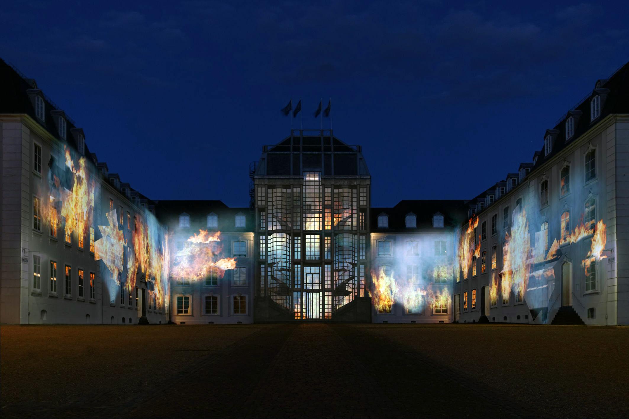 Lichtinstallationen Saarbrücker Schloss
